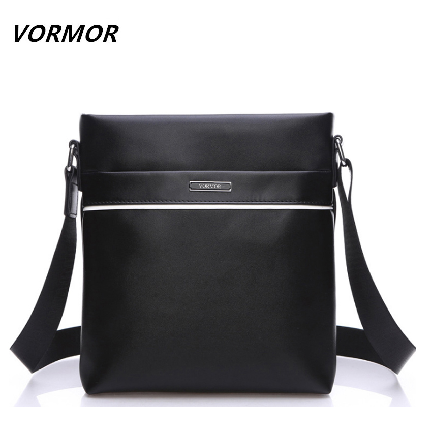 VORMOR Brand Leather Men Bag Casual Business Leather Mens Messenger Bag Vintage Men's Crossbody Bag bolsas male new casual business leather mens messenger bag hot sell famous brand design leather men bag vintage fashion mens cross body bag