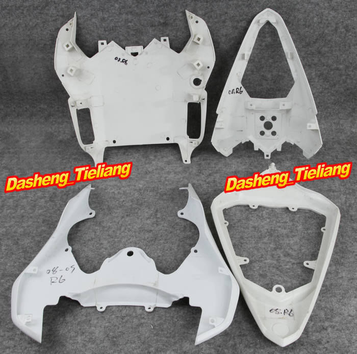 Unpainted Motorcycle Tail Rear Fairing Fit for Yamaha 2008 2009 YZF R6 08 09, ABS Plastic