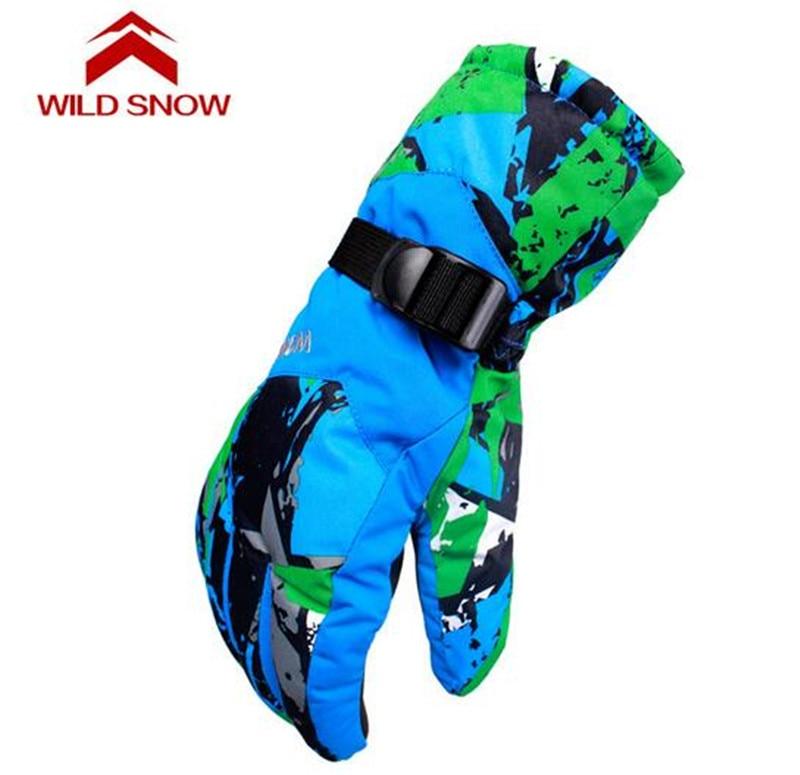 WILD SNOW Winter Waterproof Anti-Cold Warm Gloves Men Ski Gloves Outdoor Sport Snow Sportswear Skiing Gloves