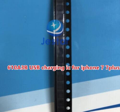 50 יח\חבילה חדש מקורי 610A3B 36 סיכות U2 USB טעינת טעינת tristar ic עבור iphone 7 7 בתוספת (גם יכול להשתמש עבור iphone 5S 6 6s)