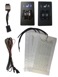 12 V 2 Dial 5 Level Switch warm heated seats Automobiles universal Carbon Fiber Heated