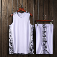 Men Basketball suit Polyester Camouflage basketball clothes Competition training team Basketball shirt Basketball Jersey Shorts