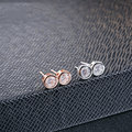 GZ 100% 925 Silver Earring Women S925 Sterling Silver boucle d'oreille White AAA Crystal Zircon Stud Earrings