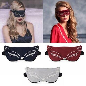 2018 New Natural Silk Sleep Breathable Eye Mask Fox Eye Shadow Sleep Multicolor Mask Bandage Eyes Sleeping Mask Eye Mask