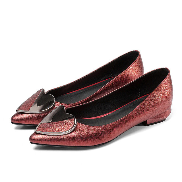 2019 new arrival women pumps spring summer genuine leather shoes pointed toe comfortable casual shoes woman office shoes