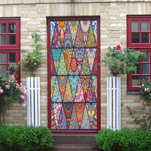 Triangular pattern  Style Door Stickers Mural PVC Self-adhesive Waterproof Bedroom WallPaper Living Room home Decoration сигурд хёль моя вина