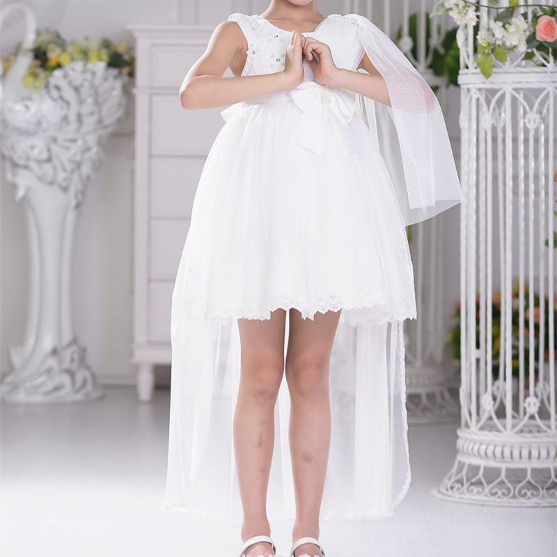 2017 New Girls Dress For Children Flower Girl Princess Vestidos Kids Formal Wedding Clothes For Party SKF154004 brand high quality multi layers formal party girl dress children white princess flower girl vestidos 2016 kids clothes akf164027