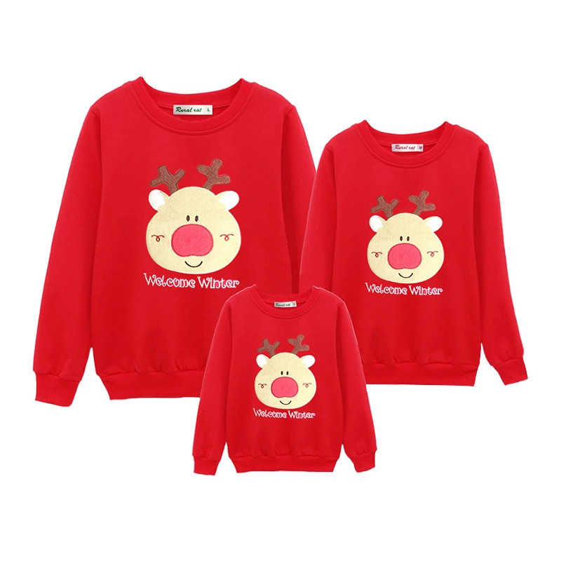 a438ec0583 Family Christmas Set Warm Adult Kids Girls Boy Mommy Sweater + Pants Two  Pieces Mother Daughter Clothes Matching Family Outfits