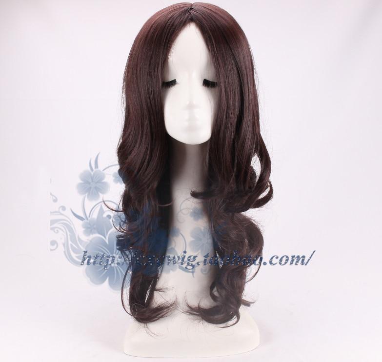 2017 Movie Wonder Woman Dark Brown Wig Diana Prince Cosplay Wig Gal Gadot Role Play wig with hair net