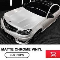 1.52 m * 20 m car styling Raso Opaco chrome ceramica bianco della pellicola del vinile avvolge adesivo auto rotolo foglio auto decorazione