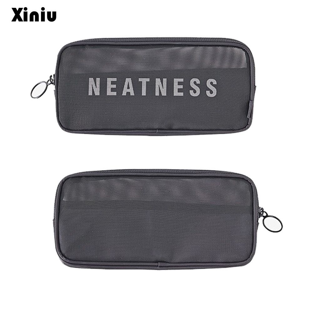 Xiniu Makeup Bag Organizador Travel 2017 Cosmetic Bags Pencil Mesh Breathable Admission Package Wash Cosmetics Pouch