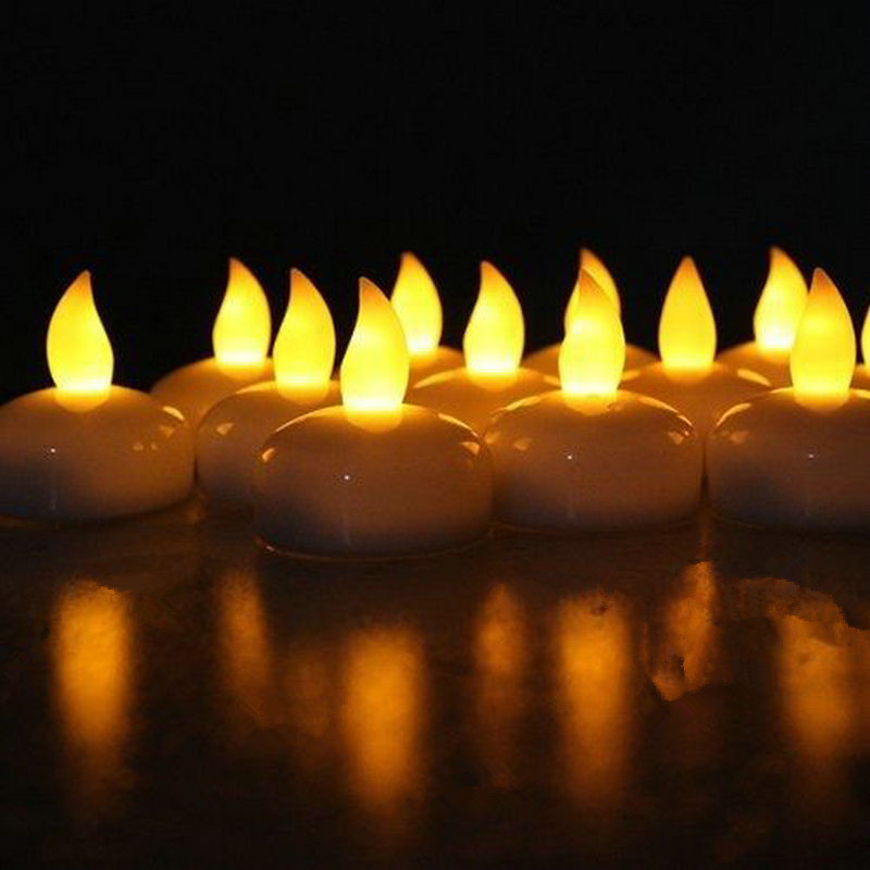 Submersible Wedding Party Floating Battery Tealight Flameless Lamp LED Candle