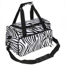 1Pcs Pro Big Salon Hair Tool Handbag Messenger Bag Zebra Hairdressing Portable Tool Case Hair Styling Tools Storage Toolkit