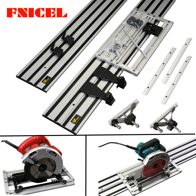 Universal Electric Circular Saw Guide Rail with Adjustable Saw Base for Circular SawWoodworking DIYStraight line Double layer