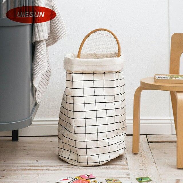 Newest 33x63cm Super Large Laundry Bag Canvas Washing Basket Hamper Storage Dirty Clothing Toy