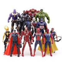 Avengers Infinity War Figures 14pcs/set Thanos Iron Man Captain America Thor Hulkbuster Spiderman Hulk Loki Action Figurine Toy