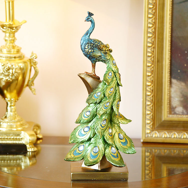 Online buy wholesale artificial peacock birds from china for Artificial birds for decoration
