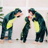Children Unisex Dragon Pajamas Pink Green Dinosaur Onesie For Kids One Piece Sleepwear Ropa De Bebe