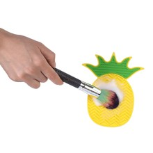 Silicone Pineapple Shape Makeup Brush Cleaning Mat Washing Tool Sucker Scrubber