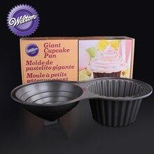 Wilton Non-Stick Giant Cupcake Pan, Aluminum Alloy Jumbo Cake Cheesecake Pans, Large Mold