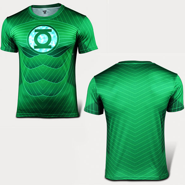 b305e334 Marvel Avengers Green Lantern 2 American Hero T-Shirt Summer Style 3D  Short-Sleeve T-shirt Fashion O-Neck Men's Slim Fit Tops