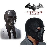 Batman Roman Sionis Full Face Latex Black Mask Cosplay Costume Hot Halloween Party Cosplay Props New Arrival