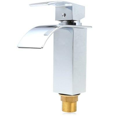 Wall mounted waterfall faucets bathroom