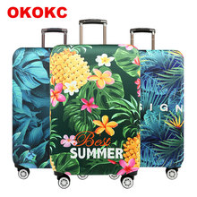 Elastic Travel Flowers&leaves Luggage Cover  Protective Suitcase For 18-32 Inch Accessories