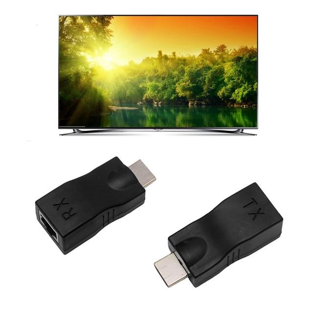 mini 4k 1080P HD 3D HDMI Extender Over Single RJ45 Cat 5e/6 Network Ethernet Adapter for PC promotion