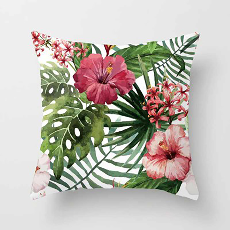 Cushion Cover Plant Pattern Throw Pillows Covers Sofa Home Car Decorative Coussin de salon Capa de almofada