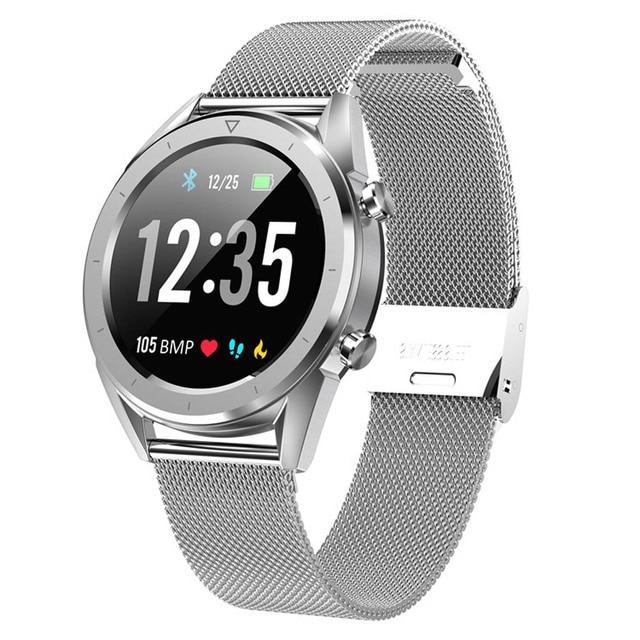 Letine DT28 ECG Monitor De Freqüência Cardíaca Relógio Inteligente de Pagamento Móvel Múltiplos Modos de Esportes de Fitness Rastreador Smartwatch Tela Sensível Ao Toque Completa