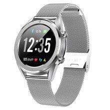 ساعة يد ذكية من Letine DT28 للدفع عبر الهاتف المحمول وجهاز تتبع لرصد معدل ضربات القلب وجهاز تتبع للياقة البدنية مع وسائط رياضية متعددة وشاشة كاملة تعمل باللمس