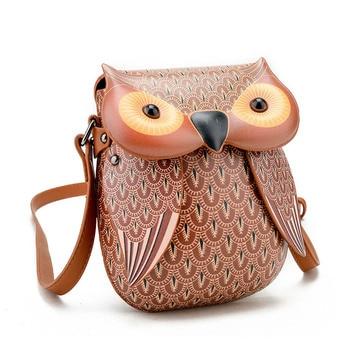 Owl Shoulder Bag Accessories Bags cb5feb1b7314637725a2e7: Black|Brown|Gray