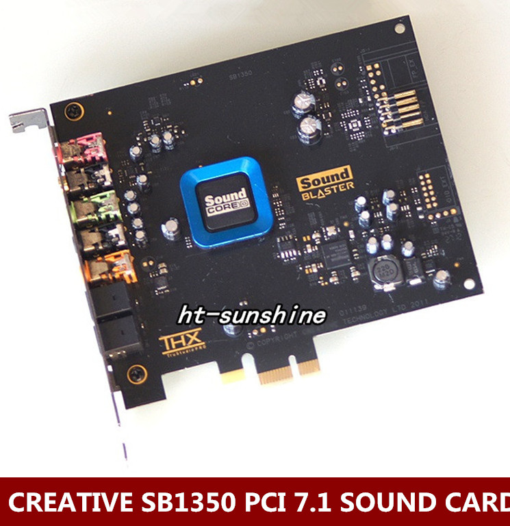 Original Used,For Creative 5.1 Fiber Recon3D Sound Card SB1350 Quad-core Ultra(HIFI)