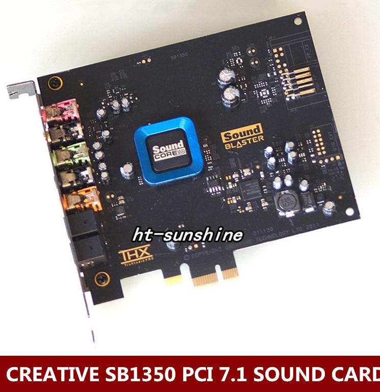 Original Used,For Creative 5.1 Fiber Recon3D Sound Card SB1350 Quad-core Ultra(HIFI)