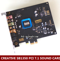 Original Used For Creative 5 1 Fiber Recon3D Sound Card SB1350 Quad Core Ultra HIFI