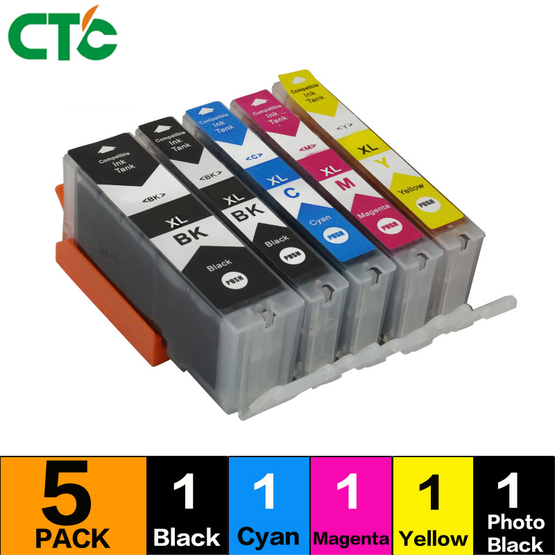 5PK PGI-520 CLI-521 Ink Cartrdiges Compitalbe For Canon MP540 MP550 560 MP620 MP630 MP640 MP980 MP990 MX860 MX870 IP4600 IP4700
