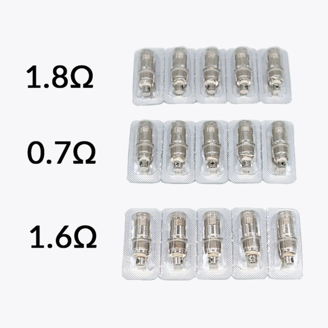Volcanee 5pcs/lot Vaper Coil for nautilus 2/aio/mini Stainless steel Atomizer Electronic Cigarettes Evaporators Core 4