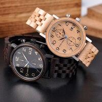 Бобо птица для мужчин s часы Топ Элитный бренд для мужчин Дерево группа часы деревянные наручные часы для мужчин большие подарки Relogio Masculino
