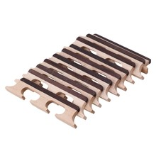 Yibuy 10pcs Maple 4 String Ukulele Banjo Guitar Bridge String Instruments Parts