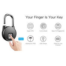 Hot BT Wifi Vingerafdruk Smart Lock Keyless Anti-Diefstal Hangslot Telefoon APP Controle XJS789(China)