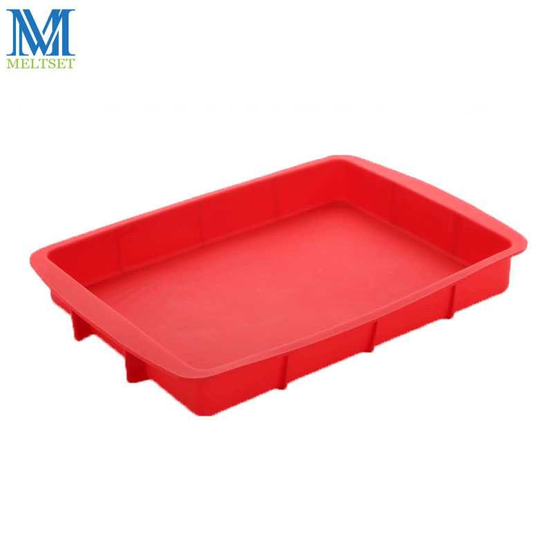1PC Non-stick Square Silicone Mould Cake Pan Bagværktøj Til Kager Heat Resistant Brød Toast Mould