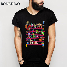 36d3cb0f4ef For Male Arcade Game Collage T Shirt FC Console Game Vintage Style Tee Shirt  100%