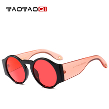 купить TAOTAOQI Brand Women Round Sunglasses Women Fashion Designer Vintage Female Sun Glasses UV400 Female Eyewear Oculos de sol недорого