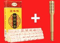 Acupuncture Stick Rod Copper Moxibustion Massage Box With 10 Pcs Long Size Moxa