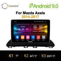 Ownice K1 K2 K3 Android 9.0 Octa Core วิทยุรถยนต์ 2 din GPS Navi สำหรับ Mazda 3 Axela 2014 2015 2016 HD 10.1