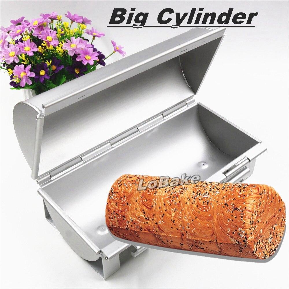 Big cylinder round shape open and shut anodising aluminium metal bread mold toast box cake mould