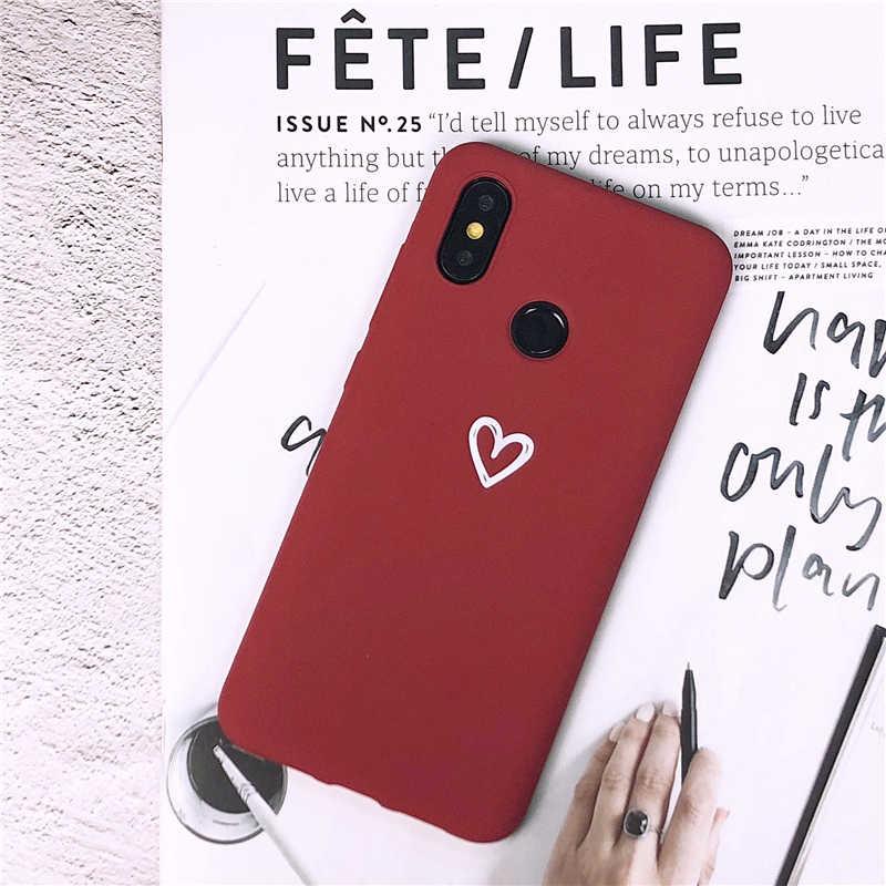 Сердце любовь мягкий чехол для Xiaomi Mi 9 8 A2 Lite 5X 6X A1 силиконовый чехол для Redmi 4A 4X5 плюс 5A 6A 6 Pro Note 4 7 S2 телефон случаях
