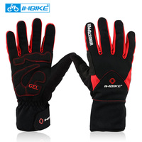 INBIKE Winter Cycling Gloves Full Finger Thermal Bike Bicycle Gloves Windproof Mittens 2 Colors Outdoor Ski