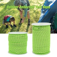 50M Reflective Rope Paracord 2.5/4MM Diameter String Windproof Tent for Camping Awning Outdoor Gear Lanyard